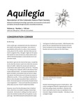 Aquilegia, Vol. 35 No. 3, Fall 2011: Newsletter of the Colorado Native Plant Society