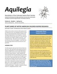 Aquilegia, Vol. 36 No. 1, Spring 2012: Newsletter of the Colorado Native Plant Society by Bob Henry, Donald L. Hazlett, Jan Loechell Turner, Polly Reetz, and Crystal Strouse