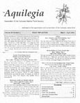Aquilegia, Vol. 29 No. 2, March-April 2005: Newsletter of the Colorado Native Plant Society by Alice Guthrie, Ivo Lindauer, and Michael W. Denslow
