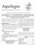 Aquilegia, Vol. 29 No. 5, November-December 2005: Newsletter of the Colorado Native Plant Society by Alice Guthrie, Mignon Macias, Jan Loechell Turner, Erin Foley, Rebecca Day-Scowron, David G. Anderson, and Katherine Zacharkevics