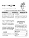 Aquilegia, Vol. 30 No. 4, September-October 2006, Newsletter of the Colorado Native Plant Society by Alice Guthrie, Linda Courter Kothera, Jan Loechell Turner, James L. Reveal, and M.P. Steinkamp
