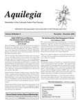 Aquilegia, Vol. 30 No. 5, November-December 2006, Newsletter of the Colorado Native Plant Society