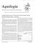 Aquilegia, Vol. 31 No. 6, Winter 2007, Newsletter of the Colorado Native Plant Society