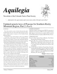 Aquilegia, Vol. 32 No. 1, Spring 2008, Newsletter of the Colorado Native Plant Society