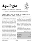 Aquilegia, Vol. 32 No. 2, Summer 2008, Newsletter of the Colorado Native Plant Society by Neil Snow, Steve L. O'Kane Jr., Sarada Krishnan, Al Schneider, and Jan Loechell Turner