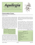 Aquilegia, Vol. 34 No. 1, Spring 2010, Newsletter of the Colorado Native Plant Society