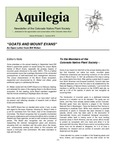 Aquilegia, Vol. 34 No. 2, Summer 2010, Newsletter of the Colorado Native Plant Society by Bob Henry, William A. Weber, Jan Loechell Turner, Charlie Turner, Jessica Clement, Luke Tembrock, Brian Kurzel, and Al Schneider