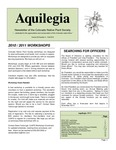 Aquilegia, Vol. 34 No. 4, Fall 2010, Newsletter of the Colorado Native Plant Society