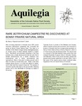Aquilegia, Vol. 34 No. 5, Winter 2010, Newsletter of the Colorado Native Plant Society