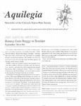 Aquilegia, Vol. 31 No. 3, Summer 2007, Newsletter of the Colorado Native Plant Society