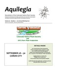 Aquilegia, Vol. 36 No. 2, 2012 Annual Meeting Issue, Newsletter of the Colorado Native Plant Society