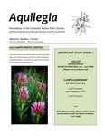 Aquilegia, Vol. 36 No. 3, Fall 2012, Newsletter of the Colorado Native Plant Society