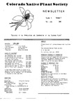 Colorado Native Plant Society Newsletter, Vol. 4 No. 3, May-June 1980