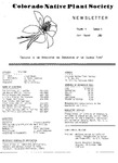 Colorado Native Plant Society Newsletter, Vol. 4 No. 4, July-August 1980