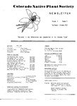 Colorado Native Plant Society Newsletter, Vol. 4 No. 6, November-December 1980