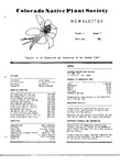 Colorado Native Plant Society Newsletter, Vol. 5 No. 3, July-September 1981