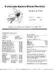 Colorado Native Plant Society Newsletter, Vol. 6 No. 2, April-June 1982