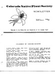 Colorado Native Plant Society Newsletter, Vol. 8 No. 1, January-February 1983