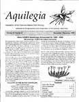 Aquilegia, Vol. 23 No. 6, November-December 1999: Newsletter of the Colorado Native Plant Society