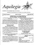 Aquilegia, Vol. 25 No. 3, March-April 2001: Newsletter of the Colorado Native Plant Society