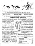 Aquilegia, Vol. 25 No. 6, September-October 2001: Newsletter of the Colorado Native Plant Society
