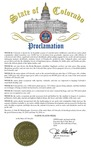 State of Colorado Proclamation: Colorado Native Plant Appreciation Week by Governer John Hickenlooper