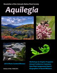 Aquilegia, Vol. 39 No. 4, Fall 2015: Newsletter of the Colorado Native Plant Society