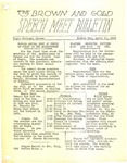1942 Brown and Gold Speech Meet Bulletins, April 11, 1942