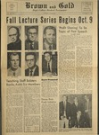 1958 Brown and Gold Vol 42 No 01 October 3, 1958