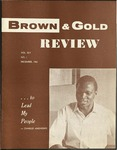 1961 Brown and Gold Review Vol XLV No 1 December, 1961