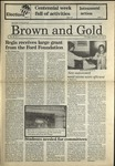 1987 Brown and Gold Vol 69 No 02 September 17, 1987