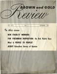 1962 Brown & Gold Review Vol  XLVI No 1 September, 1962