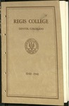 1940-1941 Regis College Catalog