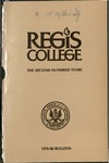 1978-1980 Regis College Bulletin
