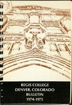 1974-1975 Regis College Bulletin