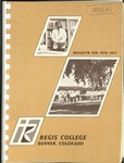 1970-1971 Regis College Bulletin