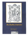 2015 Hopkins Conference Program by Gerard Manley Hopkins, S.J., Society