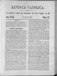 Revista Católica Vol 22-2, July-Dec, index, 1896